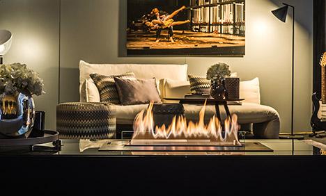 Photo d'une cheminée éthanols haut de gamme