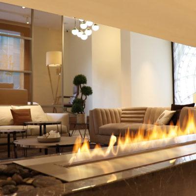 Cheminées éthanol outdoor et indoor - Photo d'une cheminée éthanol haut de gamme